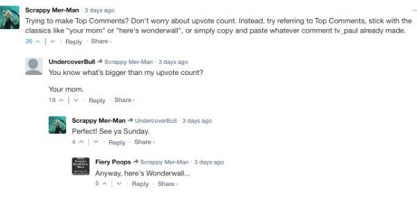 Sarcastic Comments, part 18