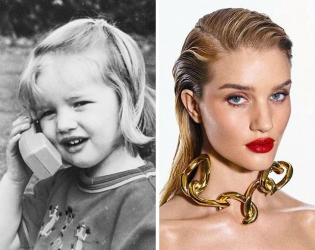 Models: When They Were Kids And Now