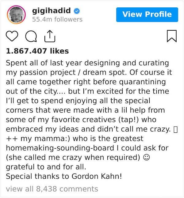 People Blamed Gigi Hadid For Her $5.8 Million Apartment