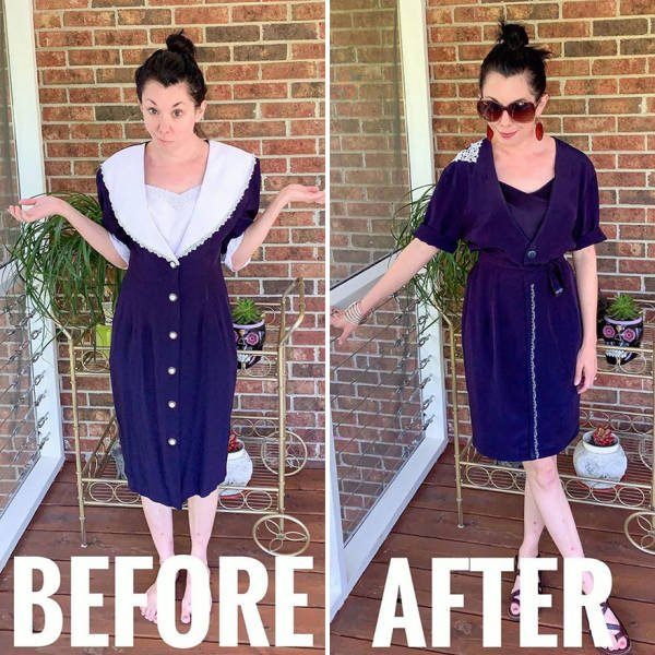 This Woman Transforms Thrift Store Clothes Into Fashion Outfits