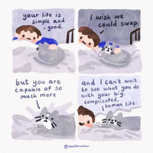 Heartwarming Watercolor Comics