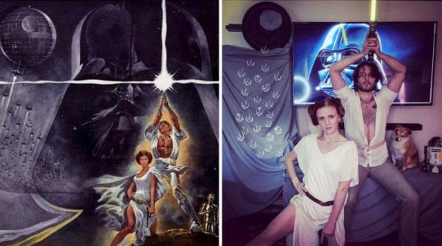 This Couple Recreates Famous Movies And TV Series Scenes And Posters