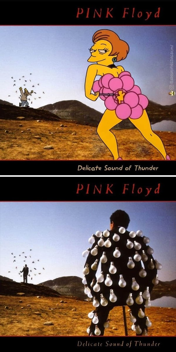 Famous Music Album Covers Improved By 'The Simpsons'