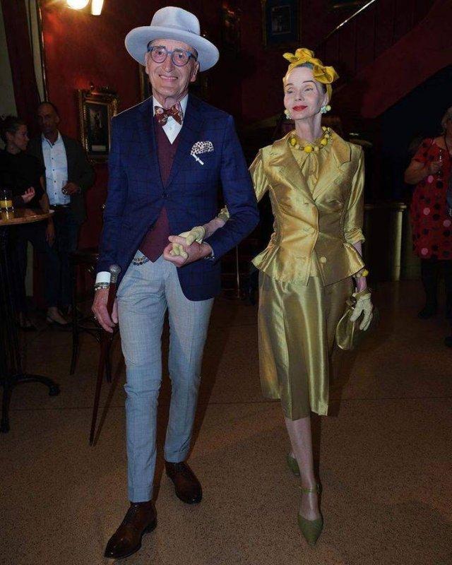 Elderly Stylish German Couple