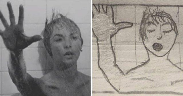 This Girl Creates Simple Drawings Of Movie Scenes