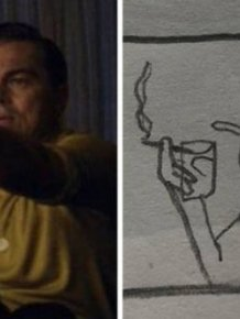 This Girl Creates Simple Drawings Of Movie Scenes