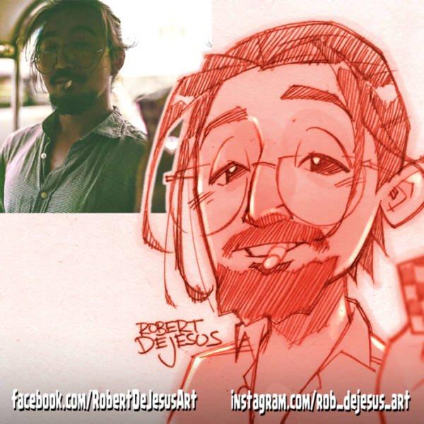 Robert DeJesus Turns Strangers Into Cartoon Characters