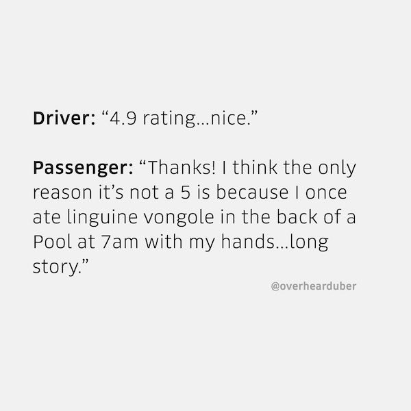 The Funniest Things Uber Drivers Have Ever Heard