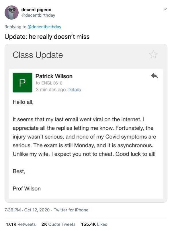 Professor Who Truly Deserves A Break