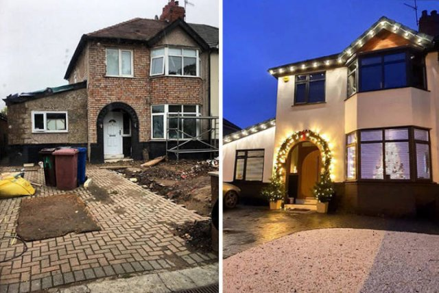 Splendid Transformation Of An Old House Into A Luxury Mansion