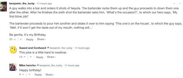 Sarcastic Comments, part 29