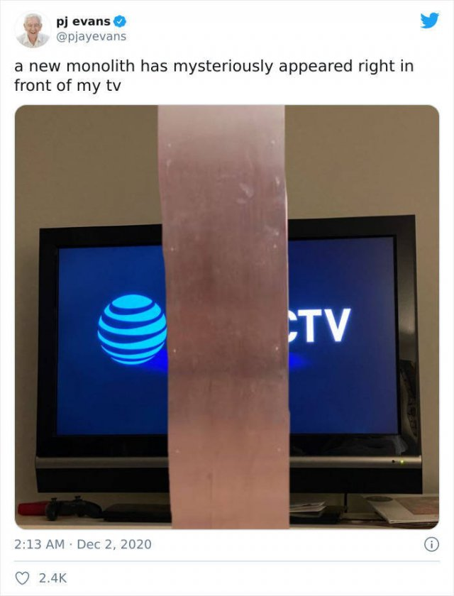 Mysterious Monolith Tweets