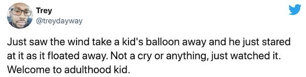 Adulthood Tweets