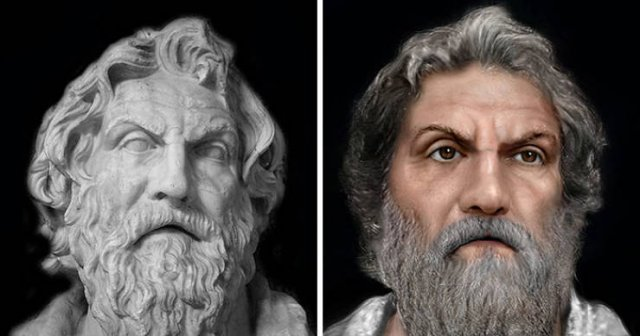 Restored Faces Of Historical Figures