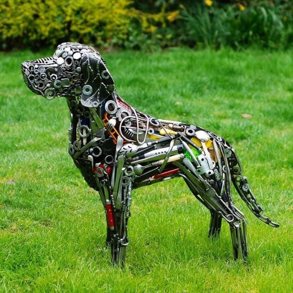 Sculptures From Trash By Self-Taught Artist Brian Mock
