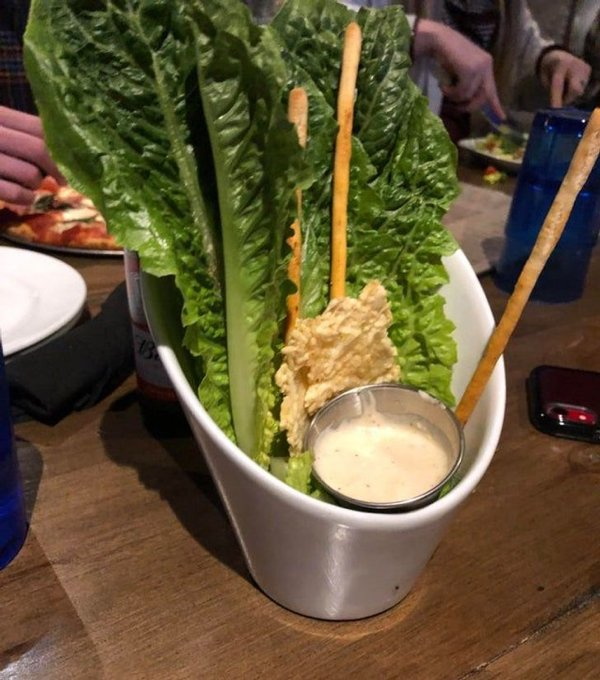 Weird Restaurants Food Serving