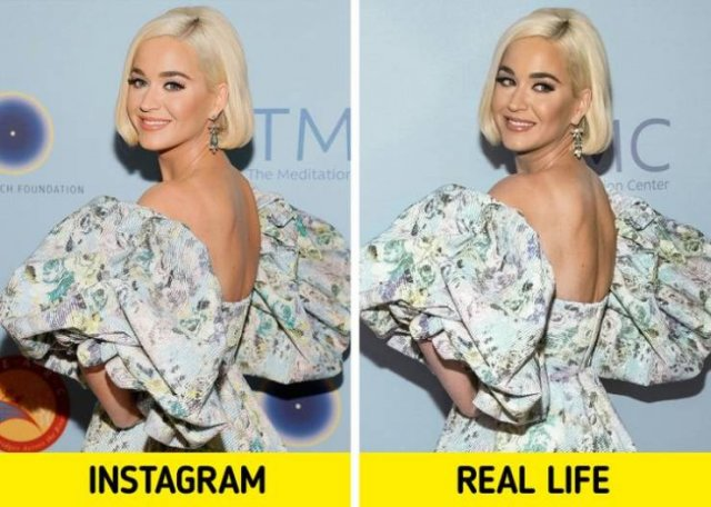 Celebs In Instagram And In Real Life