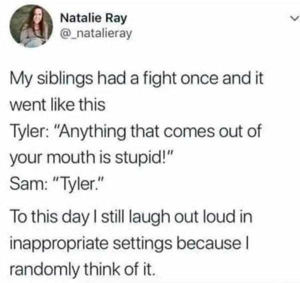 Tweets About Siblings