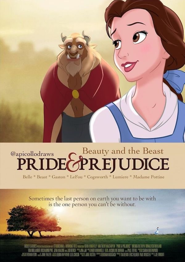 Movie Posters Reimagined With Disney Characters
