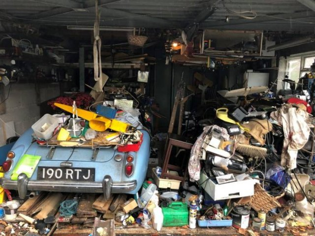 'MGA' Roadster Was Discovered After Almost 60 Years Of Being Under The Trash