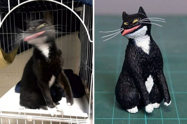 This Japanese Artist Turns Funny Animal Photos Into Sculptures