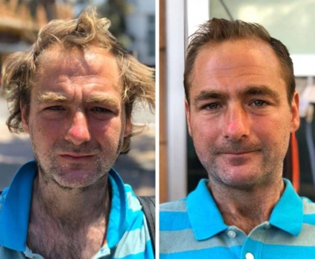 Stylist Helps Homeless People By Giving Them New Haircuts