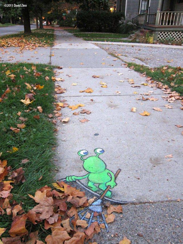Cute Street Art By David Zinn