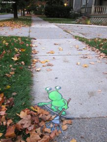 Cute Street Art By David Zinn