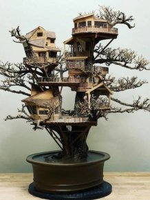 Tiny Bonsai Treehouses By Dave Creek
