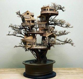 Tiny Bonsai Treehouses By Dave Creek