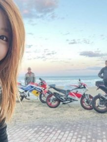 This Japanese Biker Girl Has Some Secret