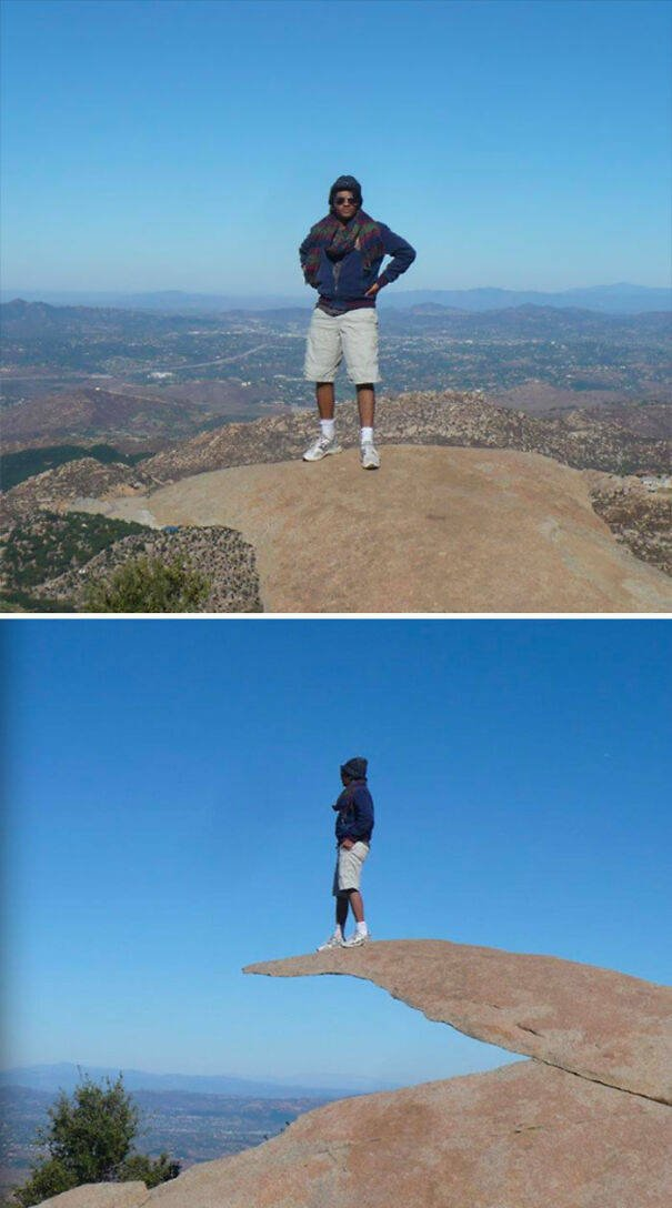 Optical Illusions Turn People Into Giants
