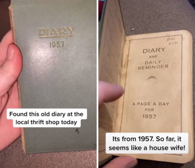 Thrift Shop Find: 1957 Housewife Diary