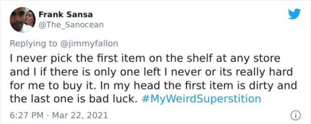 People Share Their Weird Superstitions