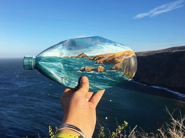 Artist Turns Garbage Into Art And Places It Into Landscape