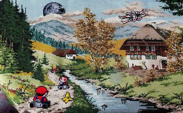 Artists Improved Thrift Store Paintings In A Funny Way