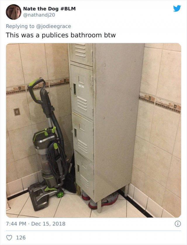 Strange Things In Men's Bathrooms