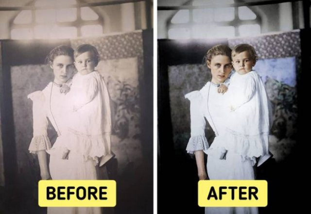 Colorized Old Family Photos