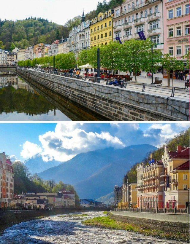 Touristic Popular Sights And Their Twins In Other Countries