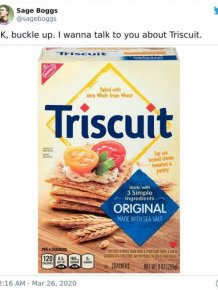 Man Explained The Meaning Of 'Triscuit'
