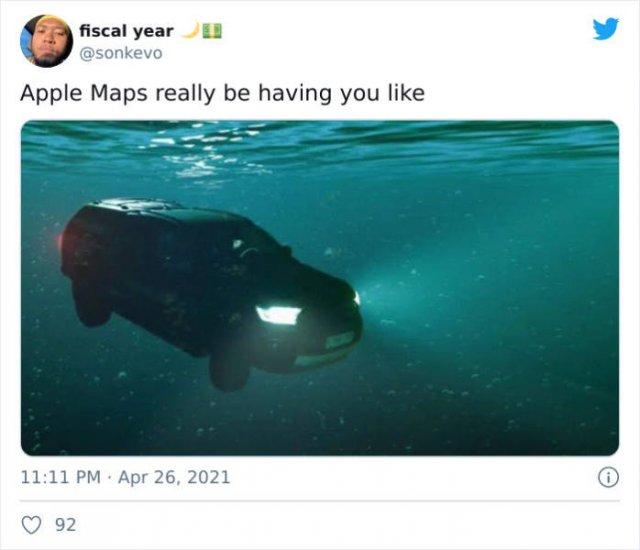 Apple Maps Tweets