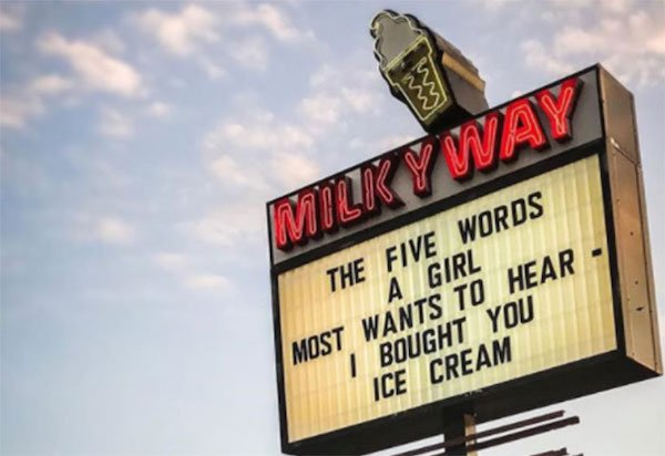 Ice Cream Shop Clever Signs