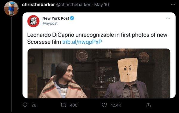 NY Post Says Leonardo DiCaprio Looks Unrecognizable