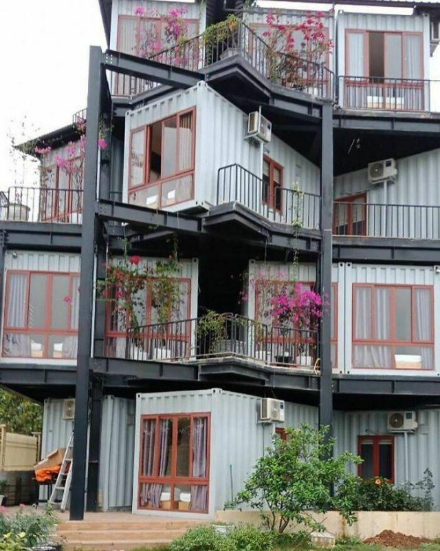 Recycled Shipping Containers Were Turned Into Houses