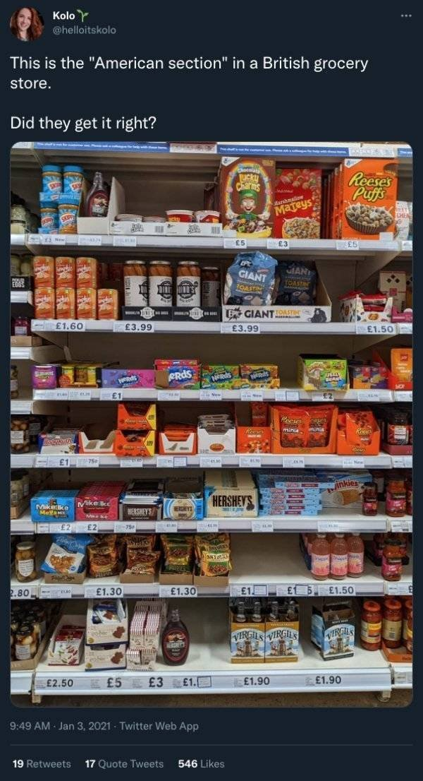 'American Food' Sections Around The World