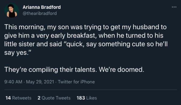 Parenting Tweets, part 8