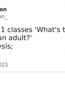 What's The One Thing You Need To Be An Adult?