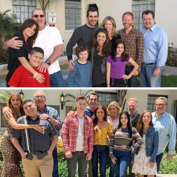 TV Show And Movie Characters: Then And Now