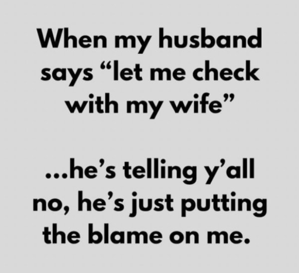 Married Life Humor, part 6