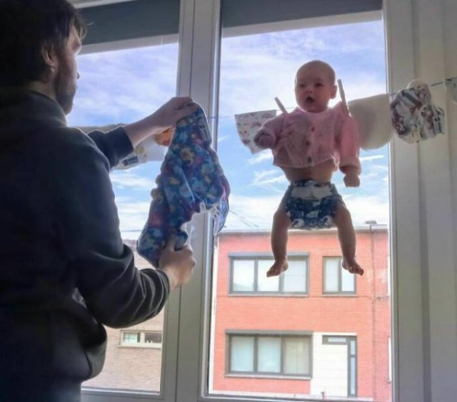 Husband Trolls His Wife By 'Ok' Photos Of His Son
